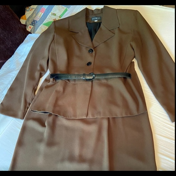 Vintage 1940's Claire McCardell Skirt Suit w/Belt